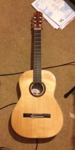 Classical guitar handmade by Mike Regan